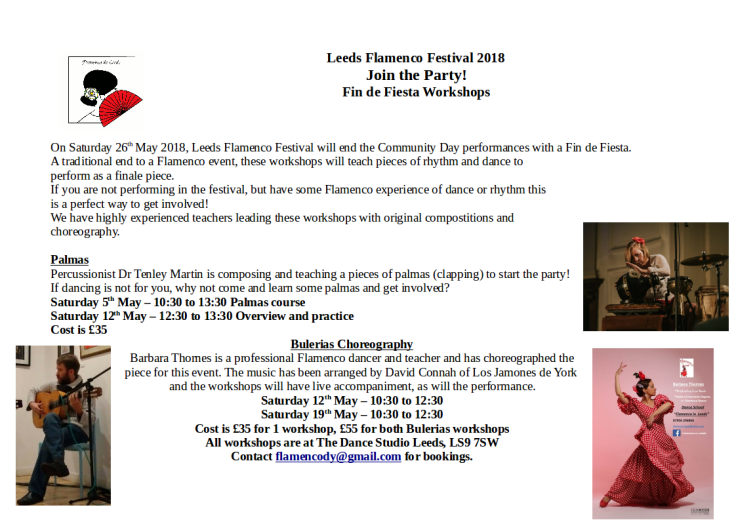 Festival Fringe Workshop flyer